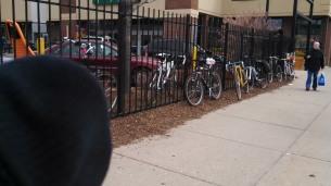 2:30pm - Overflow bike parking
