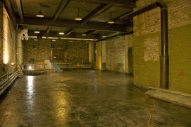 Armory Theater - when we first cleaned it out