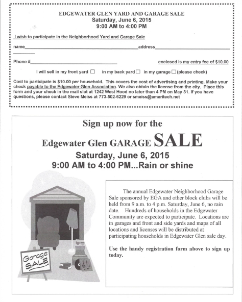 Garage Sale Flyer '15