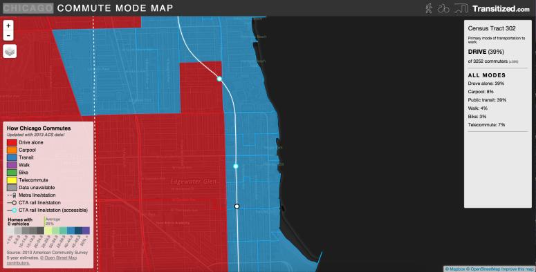 Edgewater Glen Commute Map