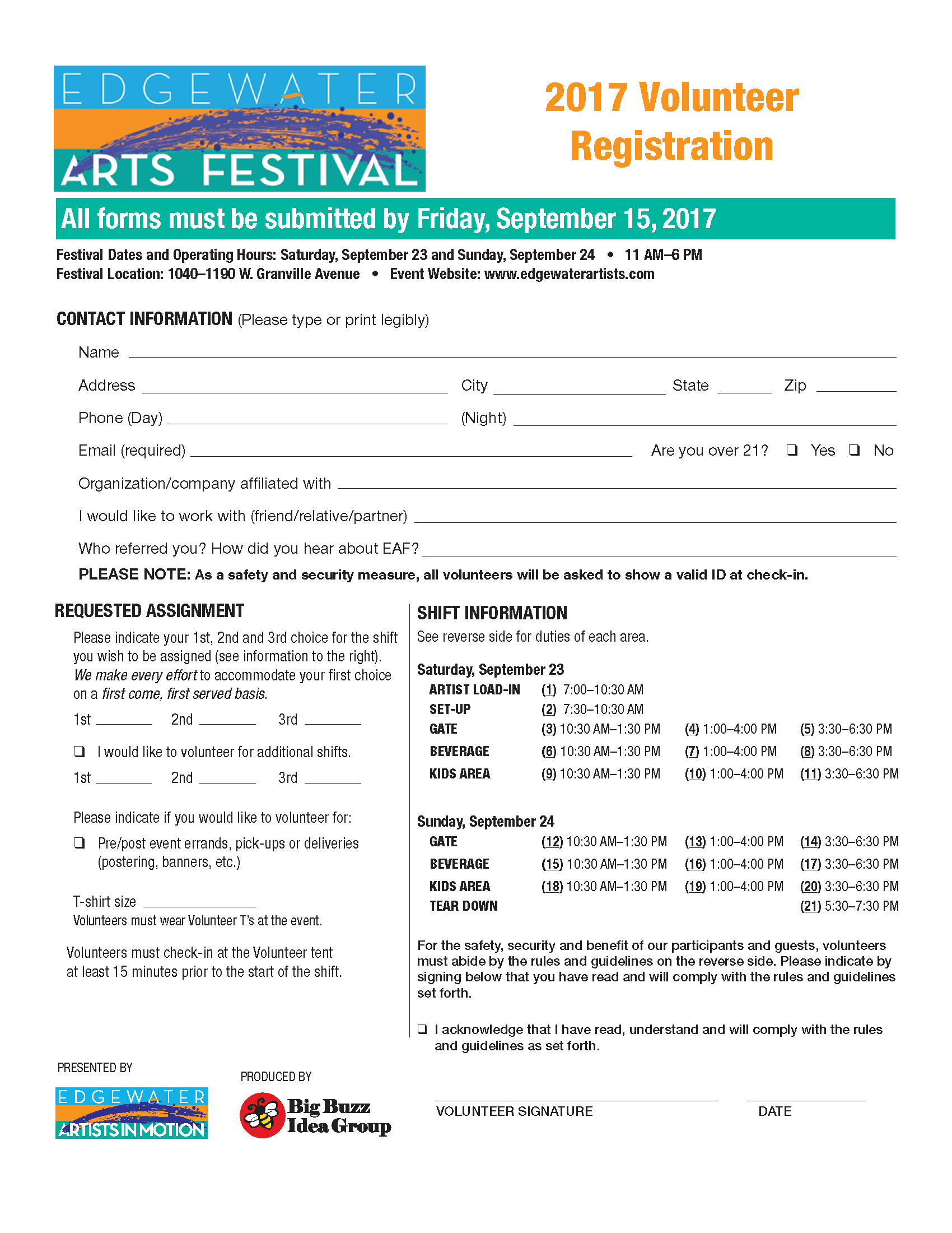 festival volunteer application form - Heart.impulsar.co